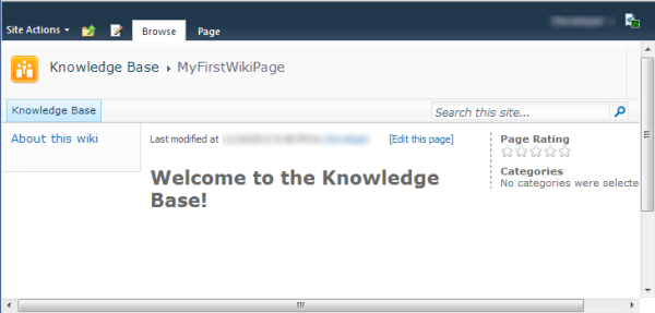 MyFirstWikiPage